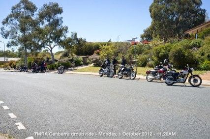 TMRA Canberra group ride - Monday, 1 October 2012 - 11.26AM