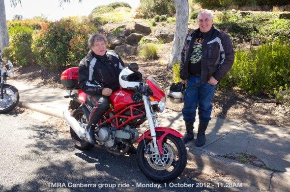 TMRA Canberra group ride - Monday, 1 October 2012 - 11.28AM