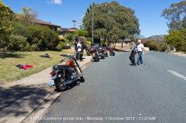 TMRA Canberra group ride - Monday, 1 October 2012 - 11.31AM