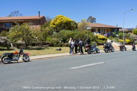 TMRA Canberra group ride - Monday, 1 October 2012 - 11.31AM