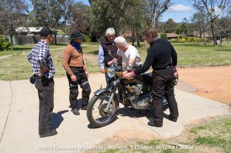 TMRA Canberra group ride - Monday, 1 October 2012 - 11.36AM