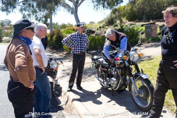 TMRA Canberra group ride - Monday, 1 October 2012 - 11.41AM