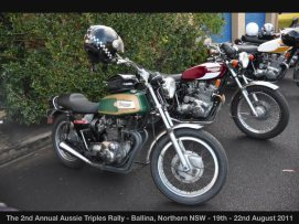 The 2nd Annual Aussie Triples Rally - Ballina, Northern NSW - 19th - 22nd August 2011
