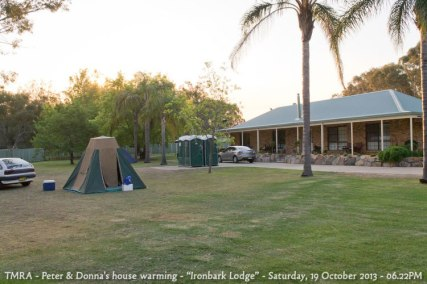 "TMRA - Peter & Donna's house warming - ""Ironbark Lodge"" - Saturday, 19 October 2013 - 06.22PM"