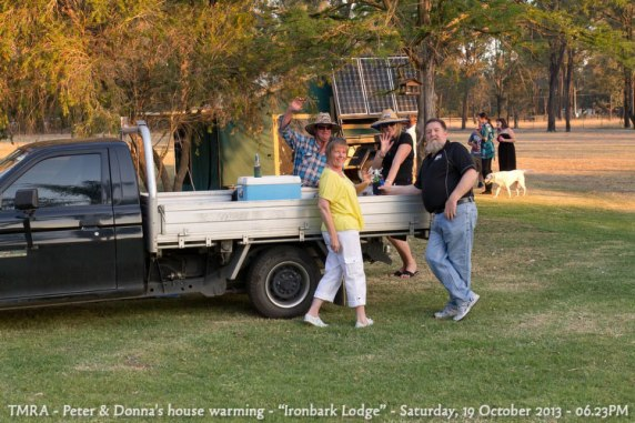 "TMRA - Peter & Donna's house warming - ""Ironbark Lodge"" - Saturday, 19 October 2013 - 06.23PM"