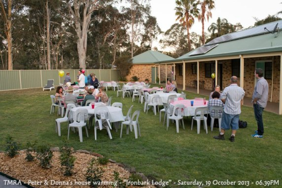 "TMRA - Peter & Donna's house warming - ""Ironbark Lodge"" - Saturday, 19 October 2013 - 06.39PM"