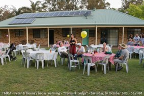 "TMRA - Peter & Donna's house warming - ""Ironbark Lodge"" - Saturday, 19 October 2013 - 06.41PM"