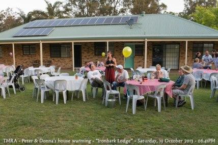 "TMRA - Peter & Donna's house warming - ""Ironbark Lodge"" - Saturday, 19 October 2013 - 06.41PM"