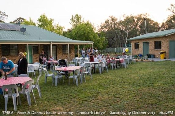 "TMRA - Peter & Donna's house warming - ""Ironbark Lodge"" - Saturday, 19 October 2013 - 06.42PM"
