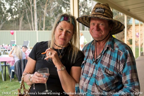 "TMRA - Peter & Donna's house warming - ""Ironbark Lodge"" - Saturday, 19 October 2013 - 06.49PM"