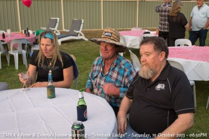 "TMRA - Peter & Donna's house warming - ""Ironbark Lodge"" - Saturday, 19 October 2013 - 06.50PM"