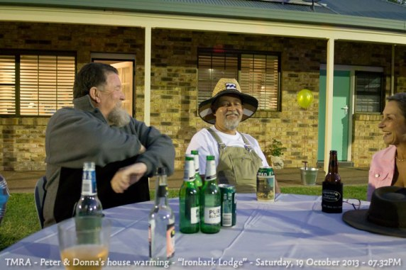 "TMRA - Peter & Donna's house warming - ""Ironbark Lodge"" - Saturday, 19 October 2013 - 07.32PM"