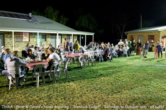 "TMRA - Peter & Donna's house warming - ""Ironbark Lodge"" - Saturday, 19 October 2013 - 08.54PM"