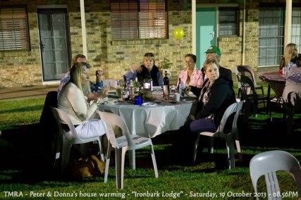 "TMRA - Peter & Donna's house warming - ""Ironbark Lodge"" - Saturday, 19 October 2013 - 08.56PM"