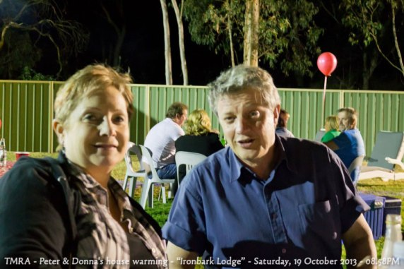 "TMRA - Peter & Donna's house warming - ""Ironbark Lodge"" - Saturday, 19 October 2013 - 08.58PM"