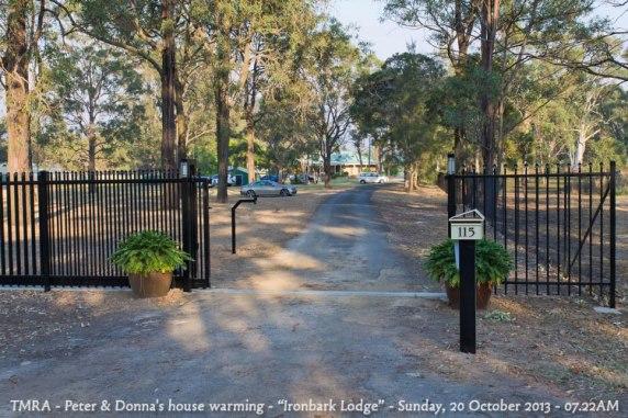 "TMRA - Peter & Donna's house warming - ""Ironbark Lodge"" - Sunday, 20 October 2013 - 07.22AM"