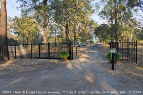 "TMRA - Peter & Donna's house warming - ""Ironbark Lodge"" - Sunday, 20 October 2013 - 07.22AM"