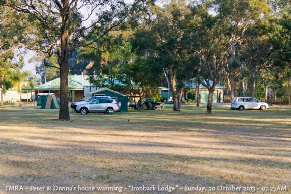 "TMRA - Peter & Donna's house warming - ""Ironbark Lodge"" - Sunday, 20 October 2013 - 07.23AM"