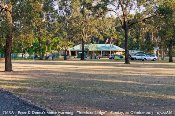 "TMRA - Peter & Donna's house warming - ""Ironbark Lodge"" - Sunday, 20 October 2013 - 07.24AM"