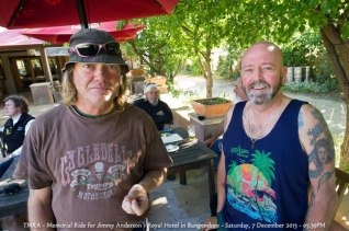 TMRA - Memorial Ride for Jimmy Anderson - Royal Hotel in Bungendore - Saturday, 7 December 2013 - 05.39PM