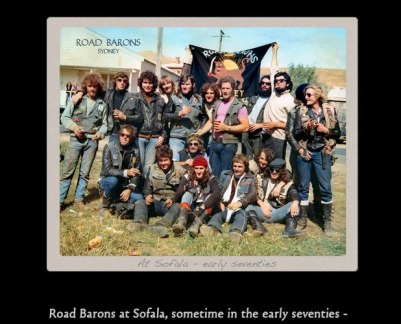 Road Barons at Sofala, sometime in the early seventies