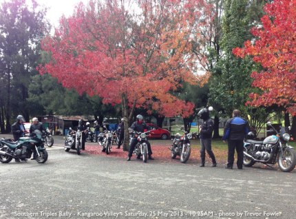 Southern Triples Rally - Kangaroo Valley - Saturday, 25 May 2013 - 10.25AM