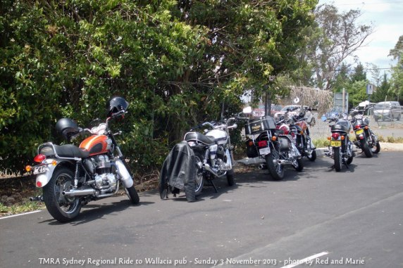 TMRA Sydney Regional Ride to Wallacia pub - Sunday 3 November 2013