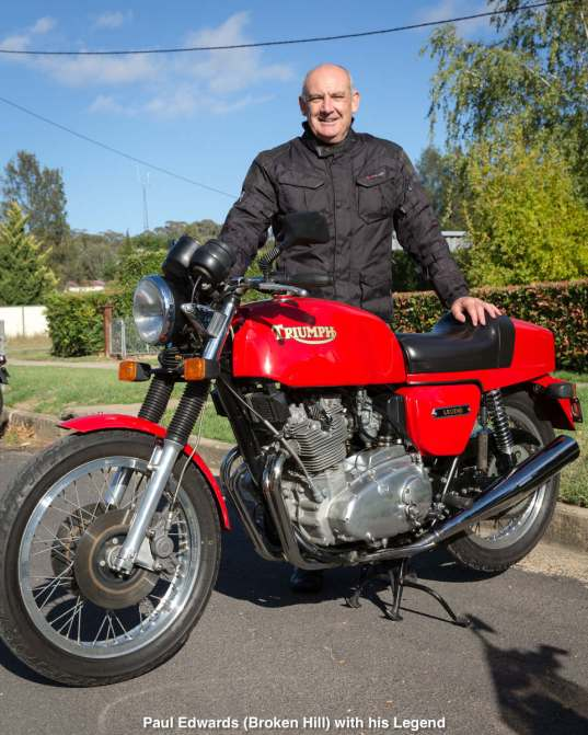 Paul Edwards (Broken Hill) with his Legend