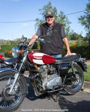 Dave Flint - 1975 T160 (from Arakoon, NSW)