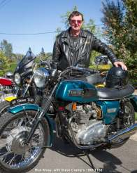 Rick Moss, with Steve Cramp's 1969 T150
