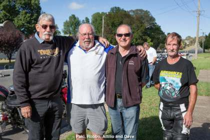 Paki, Robbo, Attilio and Dave