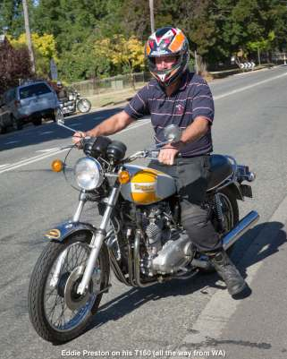 Eddie Preston on his T160 (all the way from WA)