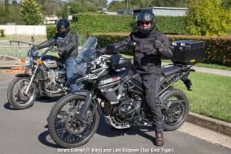 Brian Eldred (T bird) and Len Skipper (Tail End Tiger)
