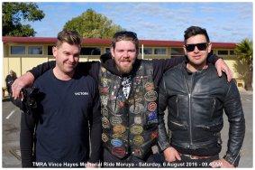TMRA Vince Hayes Memorial Ride Moruya - Saturday, 6 August 2016 - 09.45AM
