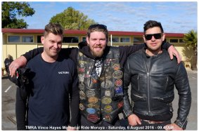 TMRA Vince Hayes Memorial Ride Moruya - Saturday, 6 August 2016 - 09.45AM