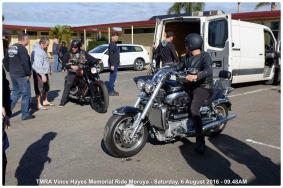 TMRA Vince Hayes Memorial Ride Moruya - Saturday, 6 August 2016 - 09.48AM