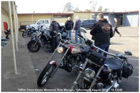 TMRA Vince Hayes Memorial Ride Moruya - Saturday, 6 August 2016 - 10.12AM