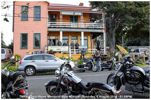 TMRA Vince Hayes Memorial Ride Moruya - Saturday, 6 August 2016 - 01.09PM