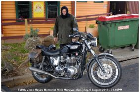 TMRA Vince Hayes Memorial Ride Moruya - Saturday, 6 August 2016 - 01.46PM
