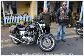 TMRA Vince Hayes Memorial Ride Moruya - Saturday, 6 August 2016 - 01.48PM