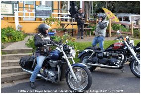 TMRA Vince Hayes Memorial Ride Moruya - Saturday, 6 August 2016 - 01.56PM