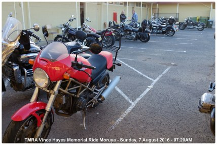 TMRA Vince Hayes Memorial Ride Moruya - Sunday, 7 August 2016 - 07.20AM
