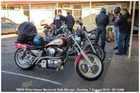 TMRA Vince Hayes Memorial Ride Moruya - Sunday, 7 August 2016 - 08.15AM