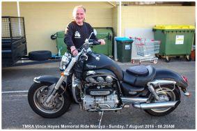 TMRA Vince Hayes Memorial Ride Moruya - Sunday, 7 August 2016 - 08.20AM