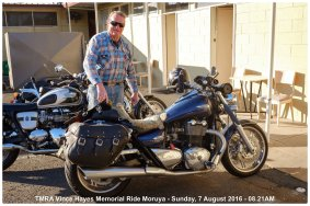 TMRA Vince Hayes Memorial Ride Moruya - Sunday, 7 August 2016 - 08.21AM