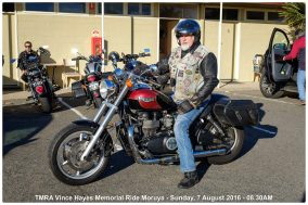 TMRA Vince Hayes Memorial Ride Moruya - Sunday, 7 August 2016 - 08.30AM
