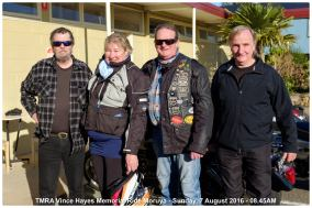 TMRA Vince Hayes Memorial Ride Moruya - Sunday, 7 August 2016 - 08.45AM