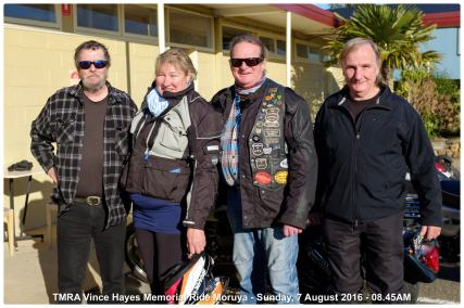 TMRA Vince Hayes Memorial Ride Moruya - Sunday, 7 August 2016 - 08.45AM